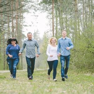 Lustige Familienfotos familien